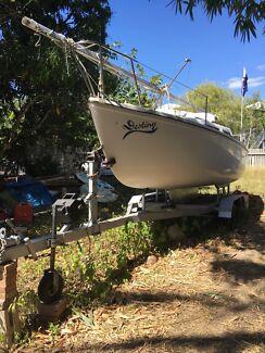Trailer Sailer (Boomaroo 22) in good condition