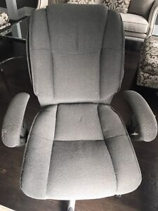 Office chair woven gray