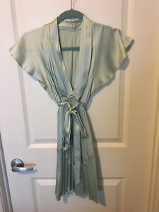 Satin mint green dress from Marciano