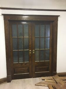 Vintage antique French pocket doors. Mint condition.