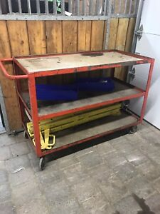 Heavy duty metal rolling cart with castors ! FREE DELIVERY!