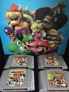 Mario Party 1, 2, & 3 and Mario Tennis for N64