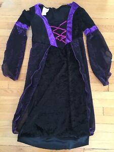 Costume robe sorcière pour fille 7-8 ans