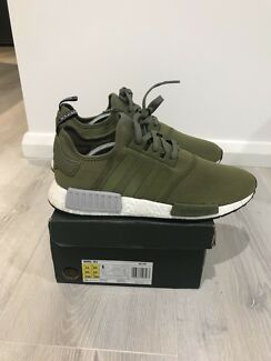 "Adidas nmd Europe foot locker exclusive ""olive"" US11"