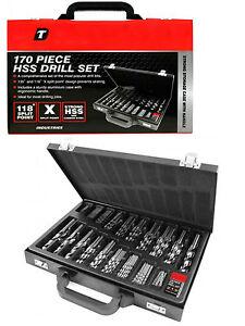 170 PC HSS DRILL BITS - DRILL SET 1MM - 10MM METAL SET