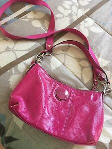 Authentic pink leather coach purse