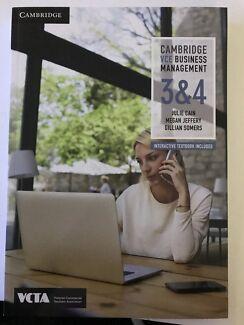Cambridge VCE Business Management 3&4