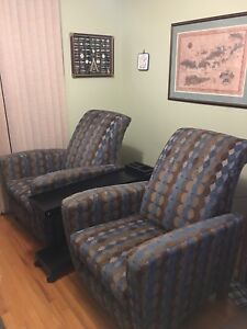 Lazy boy recliners and custom built table