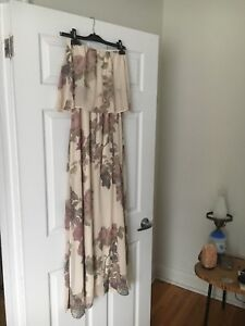 Flowy strapless dress from Mendocino