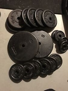 150 Lbs of Solid Steel Weight Plates