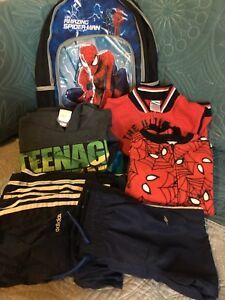 Boy's Size 4 Clothes & Backpack