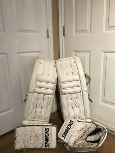 "Goalie Gear 34""pads, Senior Catcher, Blocker"