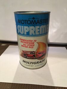 Canadian Tire MOTOMASTER SUPREME oil