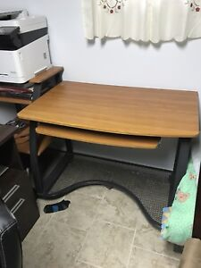 Home office wood black desk