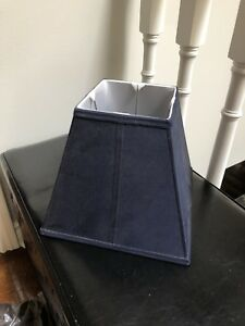 Navy blue lamp shade from Pottery Barn kids
