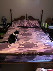 Queen size pink camo sheets