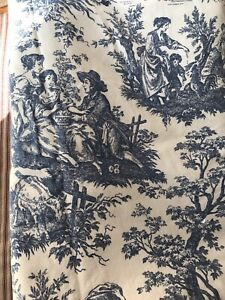 Pair of Toile twin size duvet covers