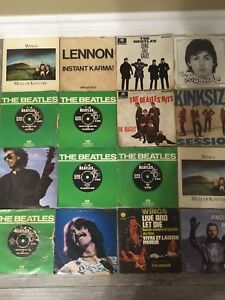 Beatles and related 45's singles