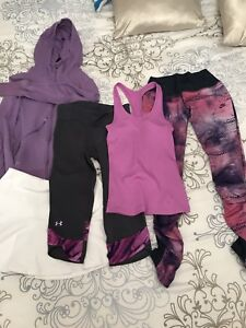 Nike / under armor athletic 5 pieces lot size XS & S
