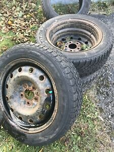 3 winter tires and rims 205/55/R16