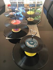 5 x record cake stands Kings Langley Blacktown Area Preview