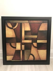 Abstract modern canvas framed wall art