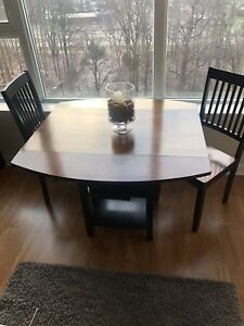 Expandable Dining Table (with 2 chairs)