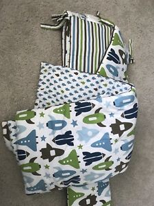 Crib bumper and comforter