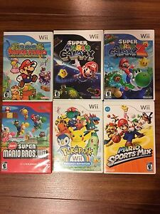 Mario Party 8,Mario Kart,Mario Galaxy,Pokémon&More Wii games!
