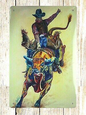 US SELLER- cowboy rodeo tin metal sign kitchen metal wall decor - Cowboy Wall Decor