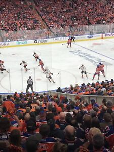 Oilers individual games in lower bowl with a drink rail