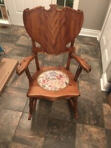 Comfortable solid no squeaks rocking chair