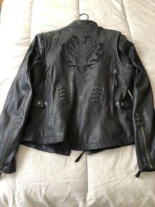 Harley Davidson Ladies Leather Motorcycle riding jacket