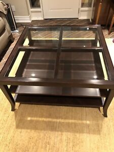 Large square coffee table from DeBoers
