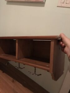 Entrance bench and shelf