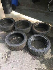 5 pneus d'hiver 245/40/r18