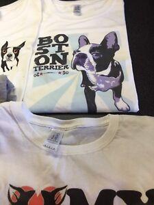 Neuf avec etiquette tshirt boston terrier plusieurs modeles