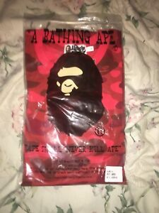 Red bape Camo shark tee