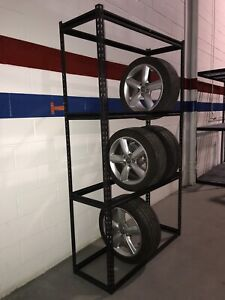 Wide span storage rack / TIRE shelving, BOLTLESS , 4 levels ,$80