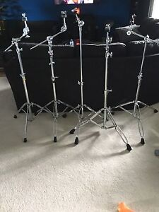 Cymbal stands for drums. Pearl- Mapex- Gibraltar.
