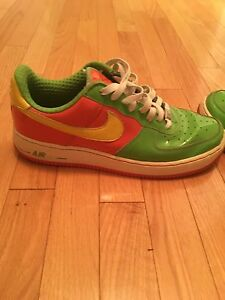 Nike Air Force 1 citrus size 11