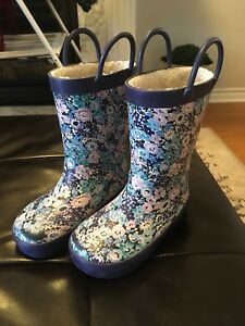 Girls Rubber Boots - Size 8 toddler