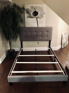 Grey Platform Bed.