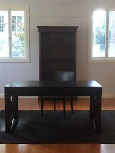 Matching writing desk and leather chair Ascot Brisbane North East Preview