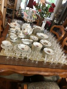 Huge vintage Germany love story dinner set, teapot, tureen,bowl
