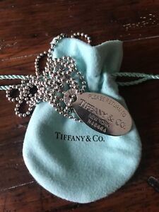 TIFFANY & CO Sterling Silver Return to Tiffany Pendant Necklace