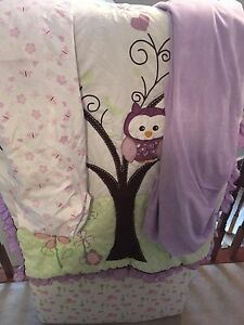 Owl themed crib bedding