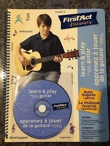 BRAND NEW BILINGUAL LEARN TO PLAY GUITAR BOOK AND CD