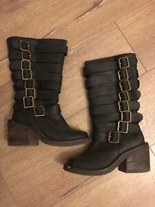 Jeffrey Campbell leather boots size 5