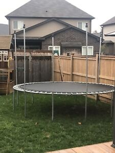 """12"""" trampoline with netting"""